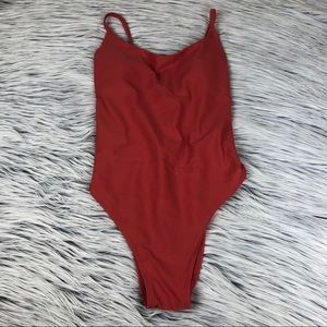 Aerie Strappy Back One Piece Swimsuit S